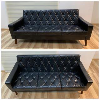 カリモクカグ(カリモク家具)のカリモク60 ロビーチェア 3シーター スタンダードブラック(三人掛けソファ)