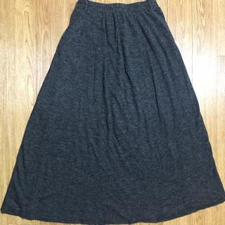 オリーブデオリーブ(OLIVEdesOLIVE)のグレーロングスカート(ロングスカート)