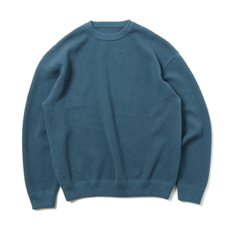 COMOLI - crepuscule / Moss Stitch L/S 鹿の子編みクルーネック