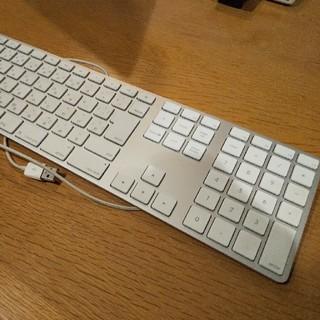 アップル(Apple)のiMac用 USB キーボード 10キー付(オフィス/パソコンデスク)