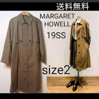 マーガレットハウエル(MARGARET HOWELL)のマーガレットハウエル 19SS PROOFED FINE COTTON コート(スプリングコート)