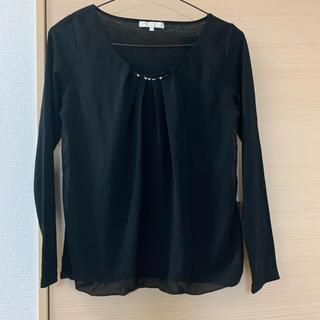 プロポーションボディドレッシング(PROPORTION BODY DRESSING)の美品♡プロポーション ブラウス 黒  オフィスカジュアル(シャツ/ブラウス(長袖/七分))