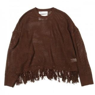 ジエダ(Jieda)の【DAIRIKU】20SS pullover fringe net knit(ニット/セーター)