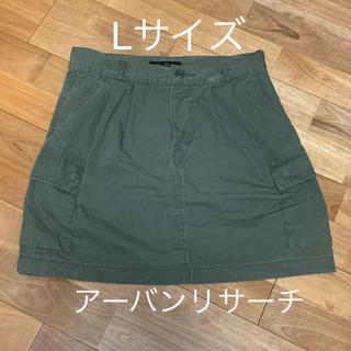 アーバンリサーチ(URBAN RESEARCH)のアーバンリサーチ ミニスカート 台形 カーキ Lサイズ (ミニスカート)