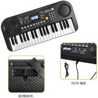 電子キーボード 37鍵盤 LCDディスプレイ搭載 多機能 高音質 軽量 楽器キー(キーボード/シンセサイザー)