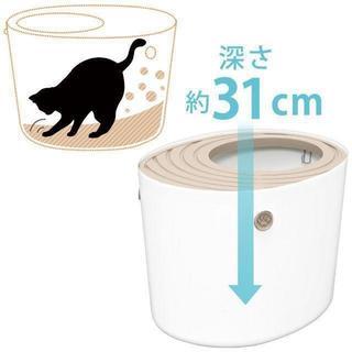 アイリスオーヤマ 上から猫トイレ ホワイト プ 商品説明 【 ¥2,990 商品(猫)