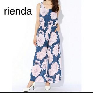 リエンダ(rienda)のrienda 花柄ロンパース(ロンパース)