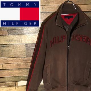 TOMMY HILFIGER - 【激レア】トミーヒルフィガー トラックジャケット 刺繍デカロゴ サイドライン