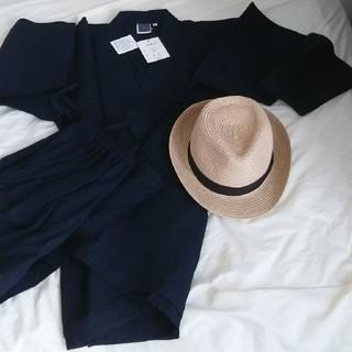 甚平とカンカン帽子(浴衣)