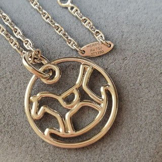 エルメス(Hermes)のHERMES DADA  18金 WGネックレス(ネックレス)
