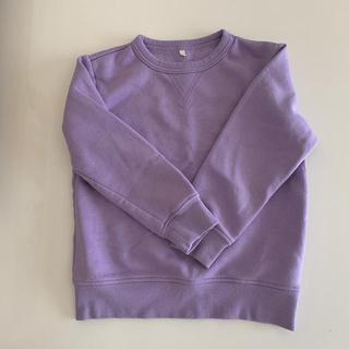 ジーユー(GU)の子供服 GU パープルトレーナー130(ジャケット/上着)