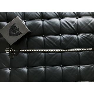 ハリウッドトレーディングカンパニー(HTC)の美品 HTC スタッズ  ベルト黒 ブラック 32 ロンハーマン  シルバー(ベルト)