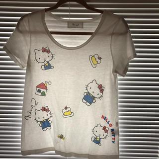 Nina mew - ニーナミュウ  キティーいっぱいTシャツ