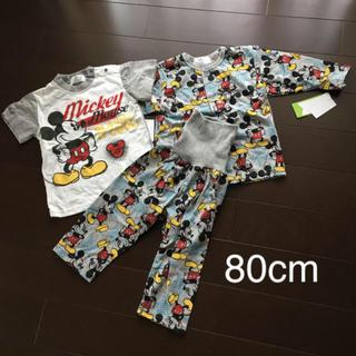 ディズニー(Disney)のミッキー パジャマ3点セット80(パジャマ)