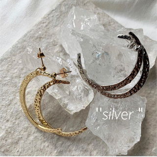"""the moon """"silver""""(ピアス)"""