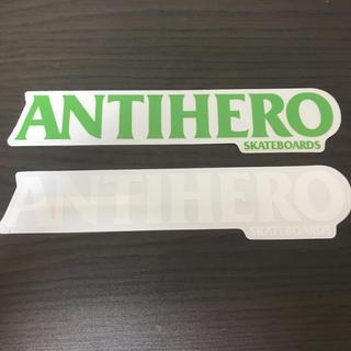 アンチヒーロー(ANTIHERO)の【縦4cm横22.2cm】ANTI HERO ステッカー 1枚のお値段(スケートボード)