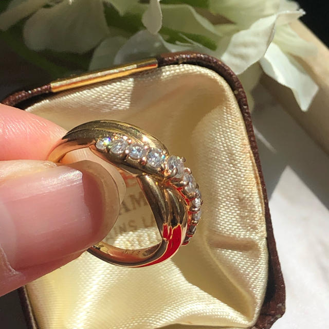 三越(ミツコシ)のK18 三越 ダイヤモンドリング 0.53ct レディースのアクセサリー(リング(指輪))の商品写真
