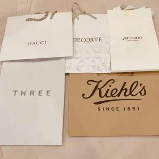 コスメデコルテ(COSME DECORTE)のキールズ コスメデコルテ THREE   HACCI    SHISEIDO  (ショップ袋)