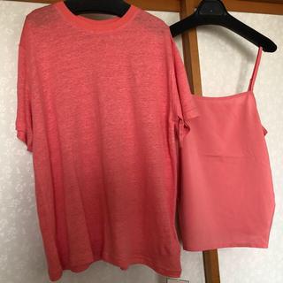 ミラオーウェン(Mila Owen)の《新品タグ付き》ミラオーウェン リネン100%ハイラインTシャツ(Tシャツ(半袖/袖なし))