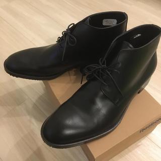 メンズ 黒 革靴 シューズ25.5cm