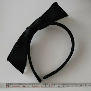 シャネル(CHANEL)の正規品  CHANEL  黒リボン カチューシャ(カチューシャ)
