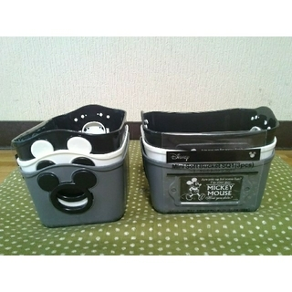 ディズニー(Disney)の【新品未使用】ディズニー ミッキーミニバケツ 3個セット×2 黒白灰3色アソート(ケース/ボックス)