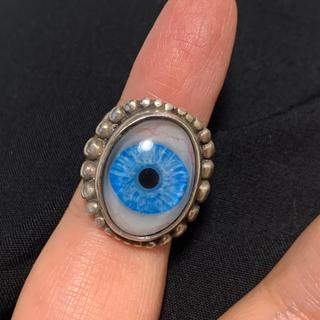 クレイジーピッグ(CRAZY PIG)のグレートフロッグ 義眼リング ブルー(リング(指輪))