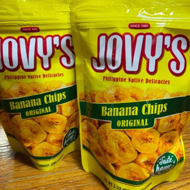 BANANA CHIPS - JOVY'S フィリピン バナナチップス 100グラム×2個の ...