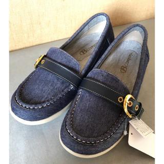 シマムラ(しまむら)の新品 デニム生地 ローファー Lサイズ(ローファー/革靴)