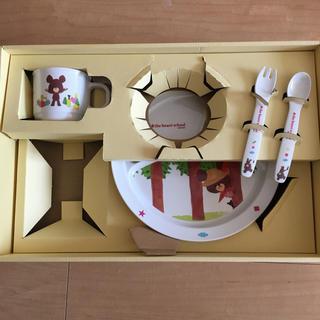 クマノガッコウ(くまのがっこう)の新品 くまの学校 子供用 食器セット お皿 マグカップ スプーン フォーク (離乳食器セット)