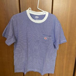 ダントン(DANTON)のDANTON ダントン Tシャツ ブルーホワイト 40(Tシャツ/カットソー(半袖/袖なし))