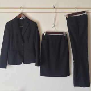 パーソンズ(PERSON'S)のパーソンズ スカートスーツ 5 三点 OL 超美品 小さいサイズ 黒 就活(スーツ)