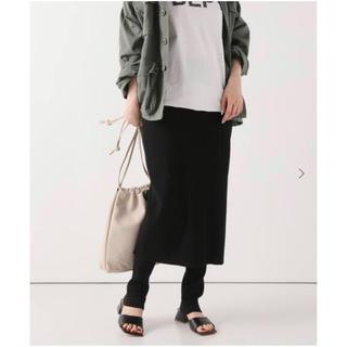 フレームワーク(FRAMeWORK)のFRAMeWORK C/PEレギンスツキスカート ブラック 新品(ひざ丈スカート)