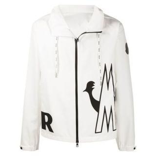 モンクレール(MONCLER)の新作【MONCLER】MYTHOS ロゴ付きジャケット 白 Lサイズメンズ(ナイロンジャケット)