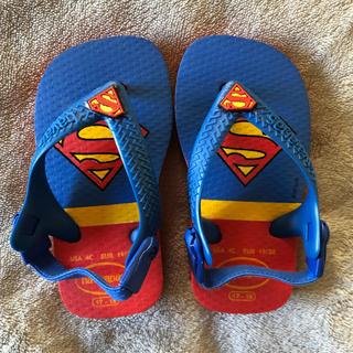 ハワイアナス(havaianas)のハワイアナス ベビー ビーチサンダル スーパーマン(ビーチサンダル)