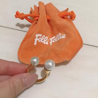 フォリフォリ(Folli Follie)の【美品‼︎大きなパールがポイント】パールリング(リング(指輪))