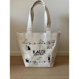カルディ(KALDI)のカルディ ネコの日バッグ 白 プレミアム 未使用 2020 エコバッグ(トートバッグ)