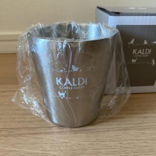カルディ(KALDI)のカルディ オリジナル ステンレスタンブラー ネコの日バッグプレミアム 2020 (タンブラー)