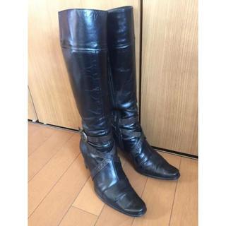 エレガンスヒミコ(elegance卑弥呼)の卑弥呼Elegance  23cm  ロングブーツ 黒(ブーツ)
