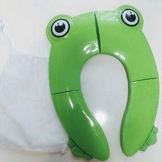 Safcare 携帯トイレおまるシート 折り畳み カエル(ベビーおまる)