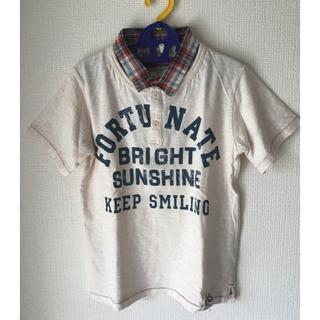 サンカンシオン(3can4on)の美品  3 can 4on キッズ140㎝ 襟付きシャツ半袖 男の子(女の子も)(Tシャツ/カットソー)