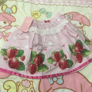シャーリーテンプル(Shirley Temple)のいちごスカート120cmピンク シャーリーテンプル (スカート)