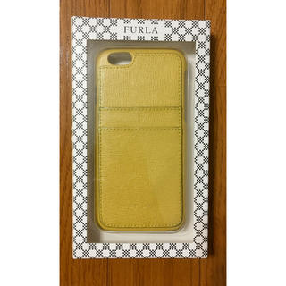 フルラ(Furla)のFURLAフルラiPhone6S本革ケース背面収納型イエローレザー カードケース(iPhoneケース)