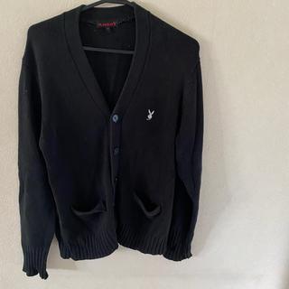 プレイボーイ(PLAYBOY)のPLAYBOY 制服 ブラック 黒 カーディガン コスプレ(カーディガン)