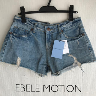エベルモーション(EBELE MOTION)の新品¥8,925| EBELE MOTION | デニムショートパンツ(ショートパンツ)