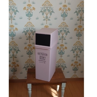 カフェスタイルごみ箱スリム深型ふた付ピンク25Lゴミ箱キッチン分別ダストボックス(その他)