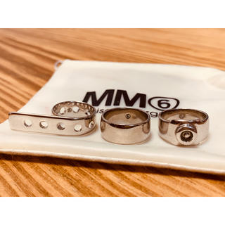エムエムシックス(MM6)のmm6 3連リング Maison Margiela 指輪(リング(指輪))