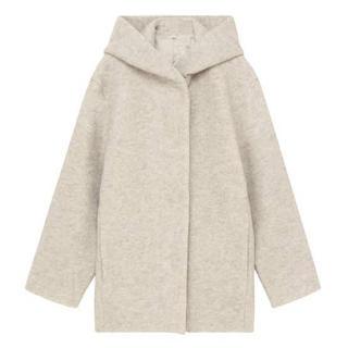 MUJI (無印良品) - ☆ 無印良品 Lサイズ ウール混ニットフード付きコート