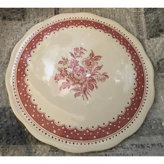 ハロッズ(Harrods)のレッドポルカドットローズ ケーキプレート 大皿 バーレイ  burleigh(食器)