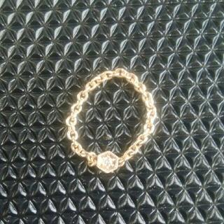 ココシュニック(COCOSHNIK)のCOCOSHNIK チェーンリング メレダイヤ(リング(指輪))